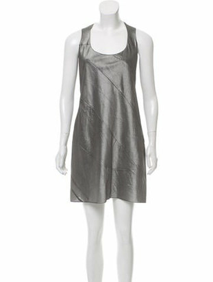 Narciso Rodriguez 2016 A-line Silk Dress Grey