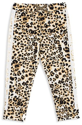 Betsey Johnson Girl's Leopard-Print Jogger Pants