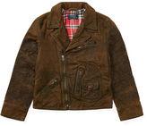 Ralph Lauren 8-20 Leather Moto Jacket