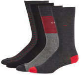 Calvin Klein Four-Pack Dress Crew Socks
