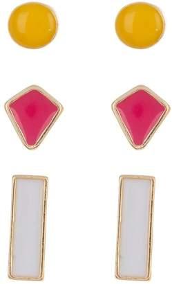 Stephan & Co Geometric Stud Earrings - Set of 3
