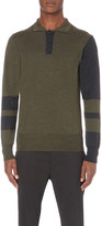 Vivienne Westwood Contrast panel wool polo shirt