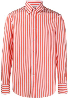 Brunello Cucinelli Striped Long-Sleeve Shirt