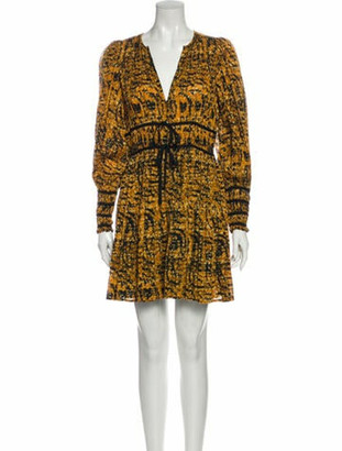 Ulla Johnson Printed Mini Dress w/ Tags Orange