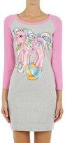 Moschino Little Pony Print Two Tone Jersey Dress