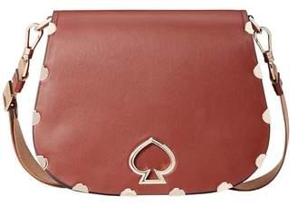 Kate Spade Suzy Large Leather Saddle Bag