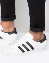 Adidas Originals Superstar 80's Trainers In White