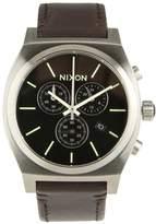 Nixon Time Teller Chronograph Watch Black/saddle