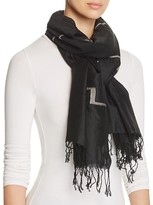 Eileen Fisher Embroidered Scarf