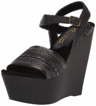 Sbicca Women's Anomoly Woven Wedge Sandal Black