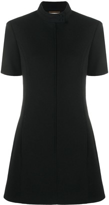 Saint Laurent High-Neck Shift Dress