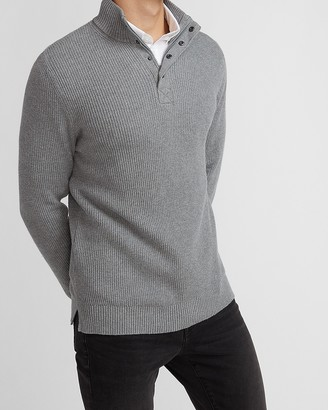 Express Solid Mock Neck Sweater