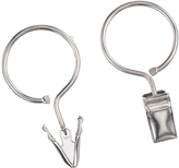 Rufflette Ring Clip Hooks, Pack of 10, Chrome