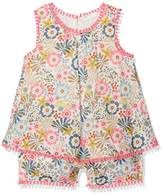 Benetton Baby Girls 0-24m Overall Romper,(Manufacturer Size:68)