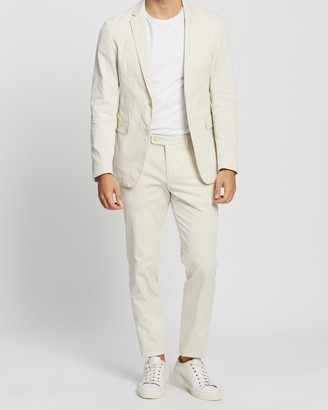 HUGO BOSS Slim Fit Suit in Stretch Cotton