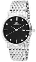 Adee Kaye Men's Link 39.37mm Steel Bracelet Swiss Quartz Watch Ak4801-Mbk