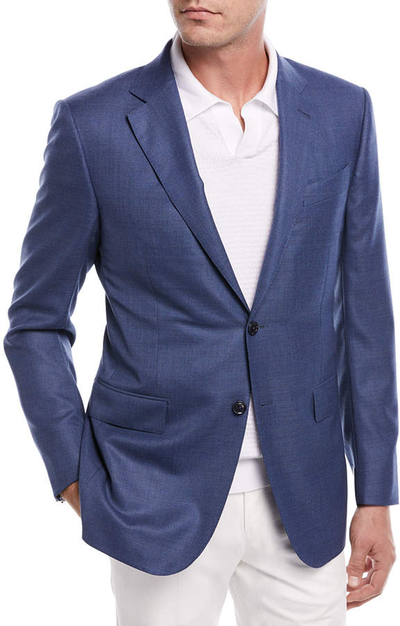 Ermenegildo Zegna Two-Button Wool Blazer