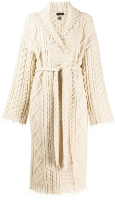 Alanui Cable Knit Robe Cardigan