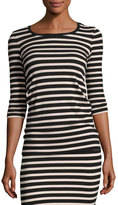 ATM Anthony Thomas Melillo 3/4-Sleeve Striped Jersey Top