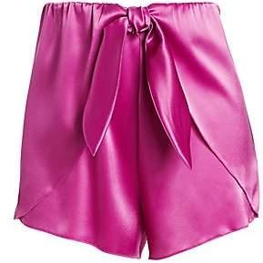 Nanushka Women's Naila Satin Mini Shorts