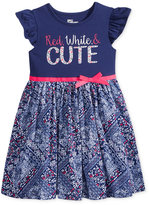 Epic Threads Red, White, and Cute Bandana Skater Dress, Toddler and Little Girls (2T-6X), Created for Macy's