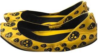 Alexander McQueen Yellow Patent leather Ballet flats