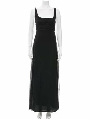 Gianni Versace Vintage Long Dress Black