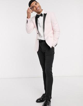 ASOS DESIGN super skinny suit jacket in blush