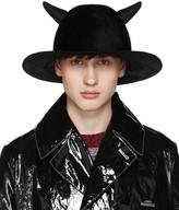 Undercover Black Horned Rabbit Fur Hat