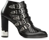 Toga Pulla fringed ankle boots - women - Leather - 37