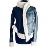 Rick Owens Black Shearling Coats
