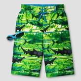 R-Way by ZeroXposur Boys' Shark Boardshort Algae Green