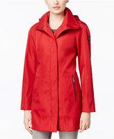 Calvin Klein Hooded Water-Resistant Walker Raincoat