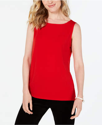 Charter Club Petite Sleeveless Boatneck Top