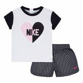 Nike Girls 4-6x Heart Tee & Dot Shorts