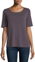 Allen Allen Half-Sleeve High-Low Tee