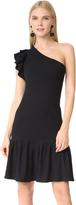 Rebecca Taylor One Shoulder Ribbed Dress