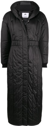 Marine Serre Long-Length Quilted Coat