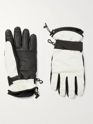 MONCLER GENIUS Logo-Appliqued Leather-Trimmed Ski Gloves