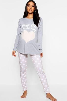 boohoo Maternity Mini Me Pajama Set