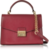 Michael Kors Sloan Medium Mulberry Leather Satchel Bag