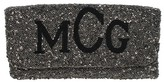 The Well Appointed House Hand Beaded Fold Over Monogrammed Clutch with Times New Roman Font - Customizable