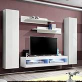 Orren Ellis FLYAB1 Floating Entertainment Center for TVs up to 70 inches Orren Ellis Color: White