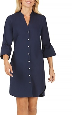 Foxcroft Nolan Bell-Sleeve Shirt Dress
