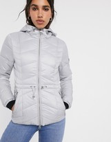 Barbour International ace quilted jacket with hood