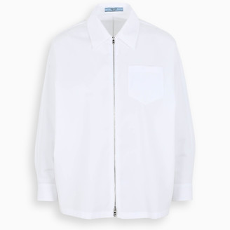 Prada White zipped shirt