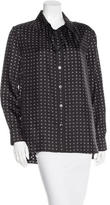 Thakoon Heart Print Button-Up Top