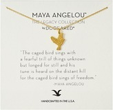 Dogeared Maya Angelou: The Caged Bird Sings Necklace Necklace