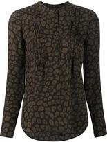 Veronica Beard Leopard Print Shirt