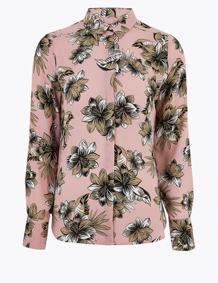 Marks and Spencer Floral Long Sleeve Shirt
